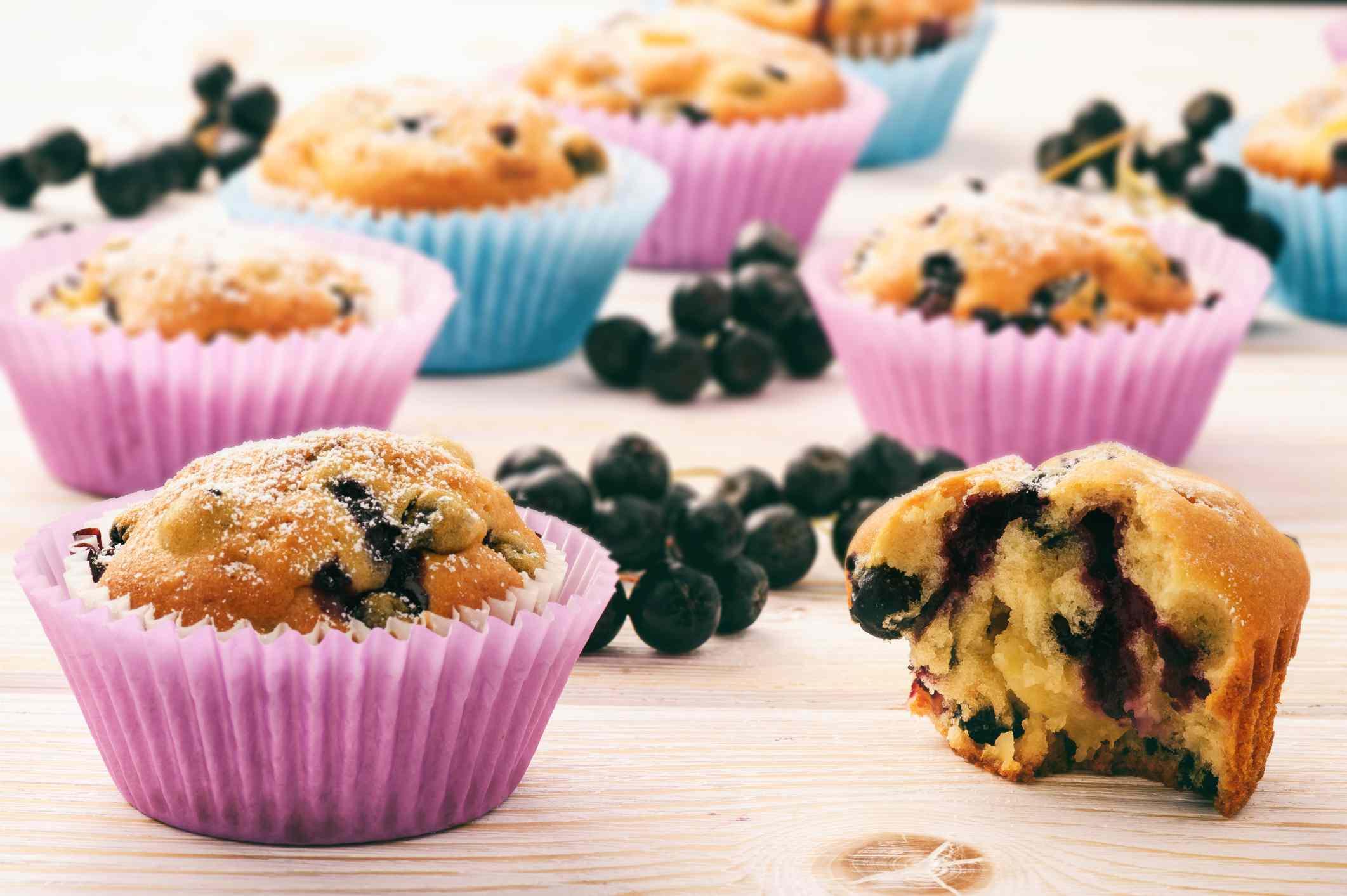 Aronia berry muffins