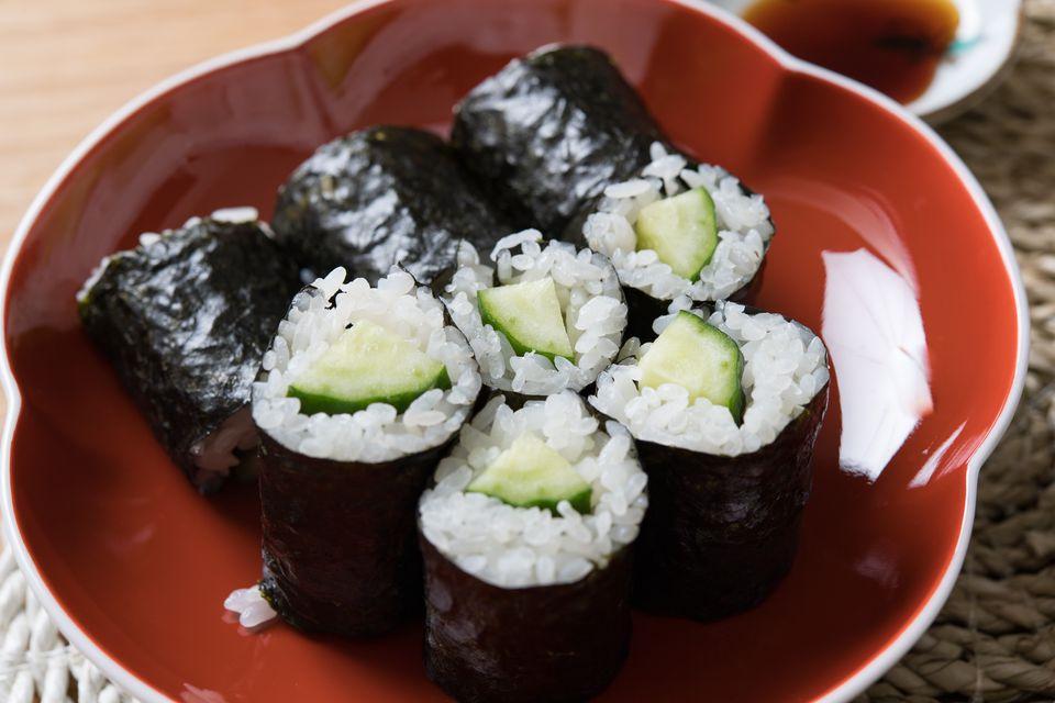 Kappamaki sushi rolls