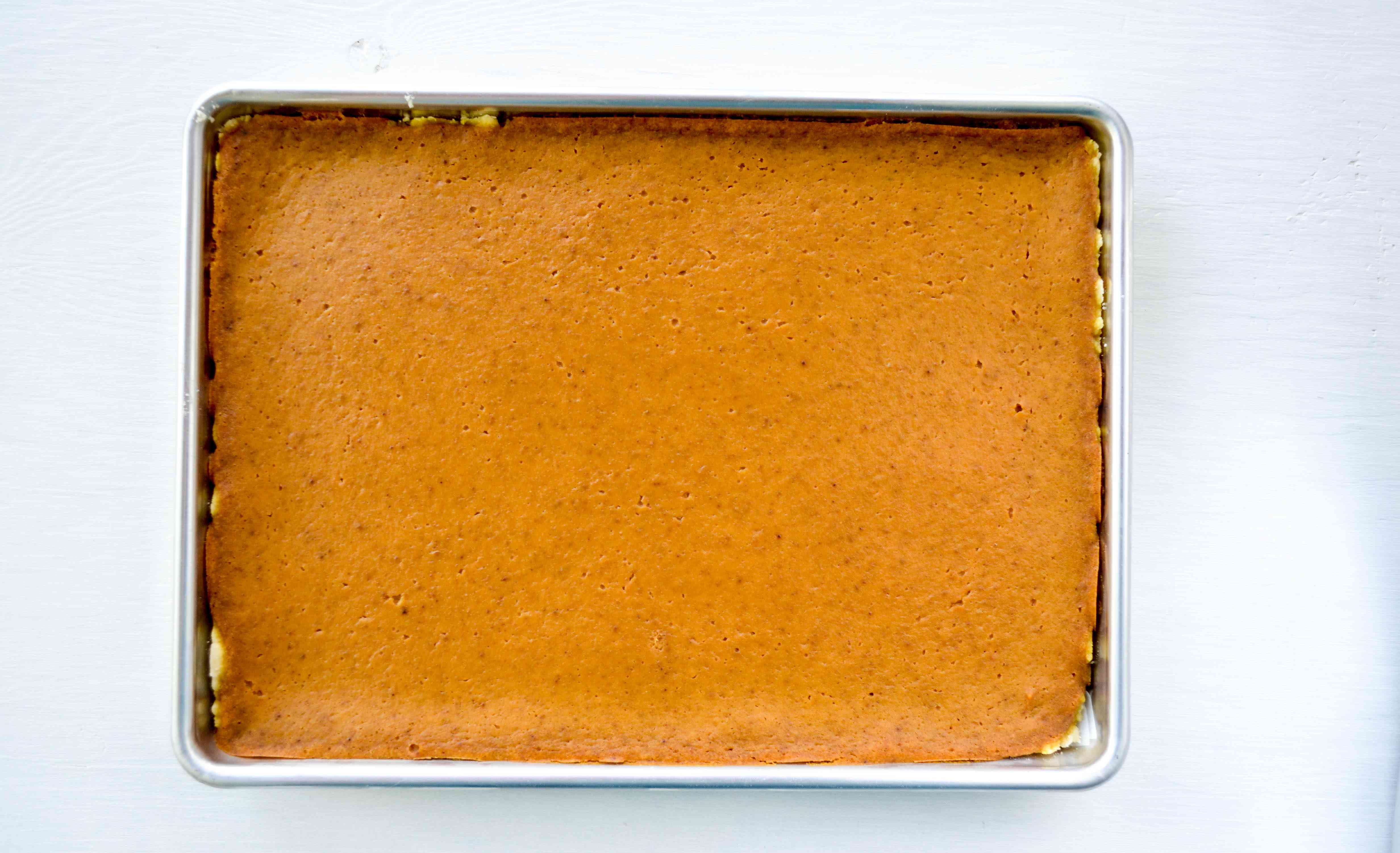 Bake the pumpkin pie bars