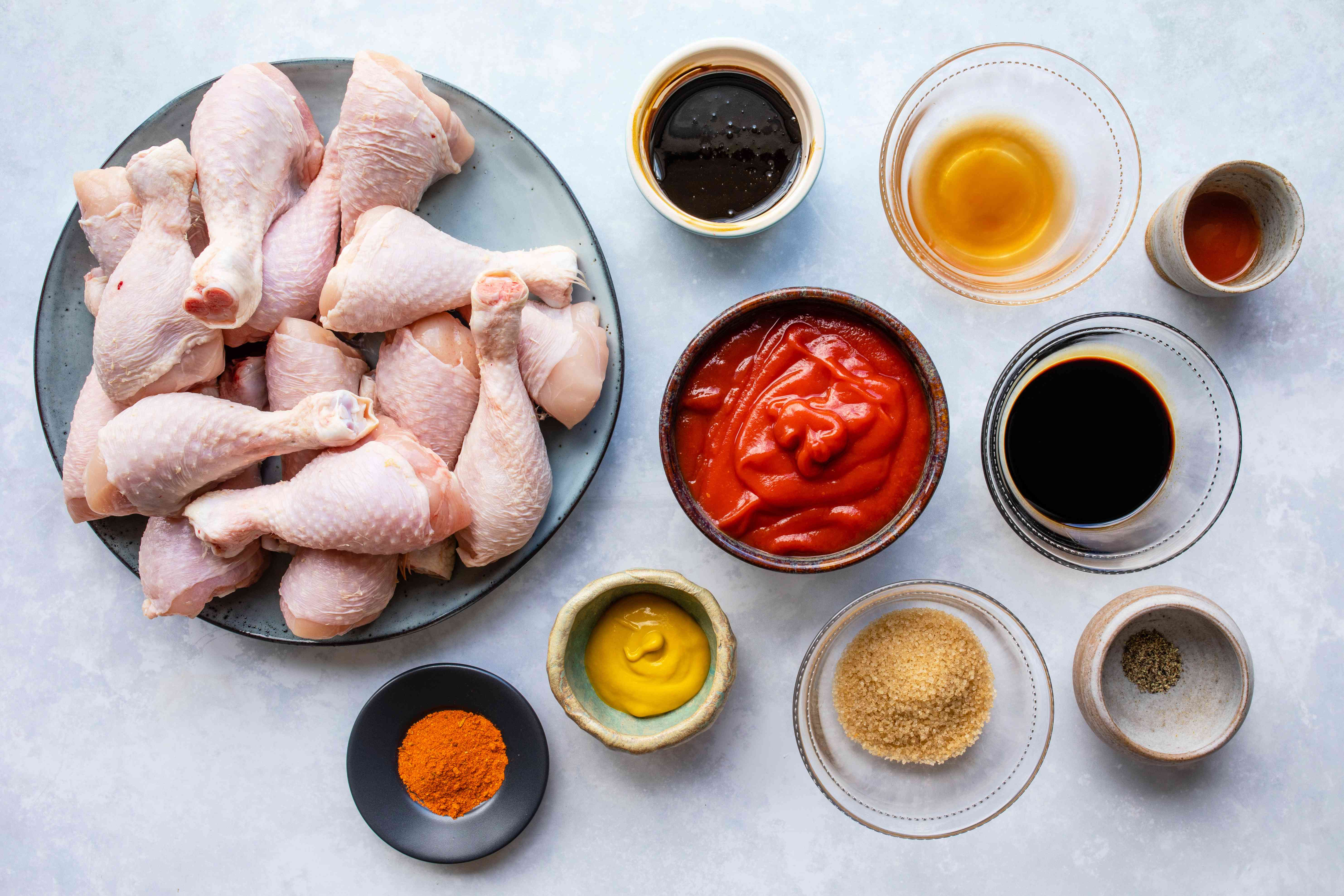 Slow cooked oven baked bbq chicken ingredients