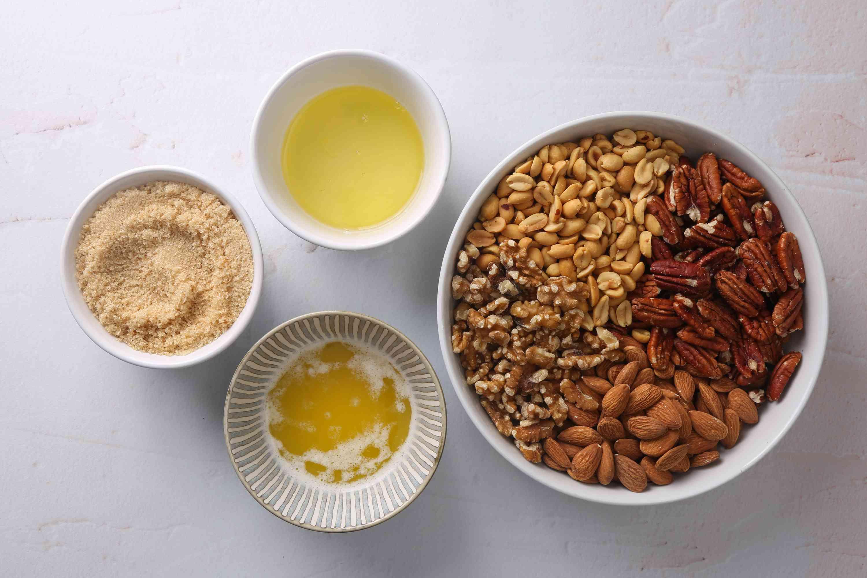 Sweet Crunchy Nuts Recipe ingredients