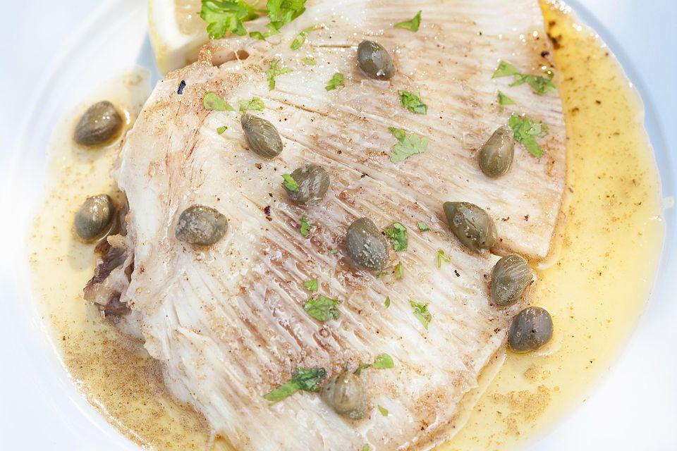Lemon Caper Sauce Over Fish