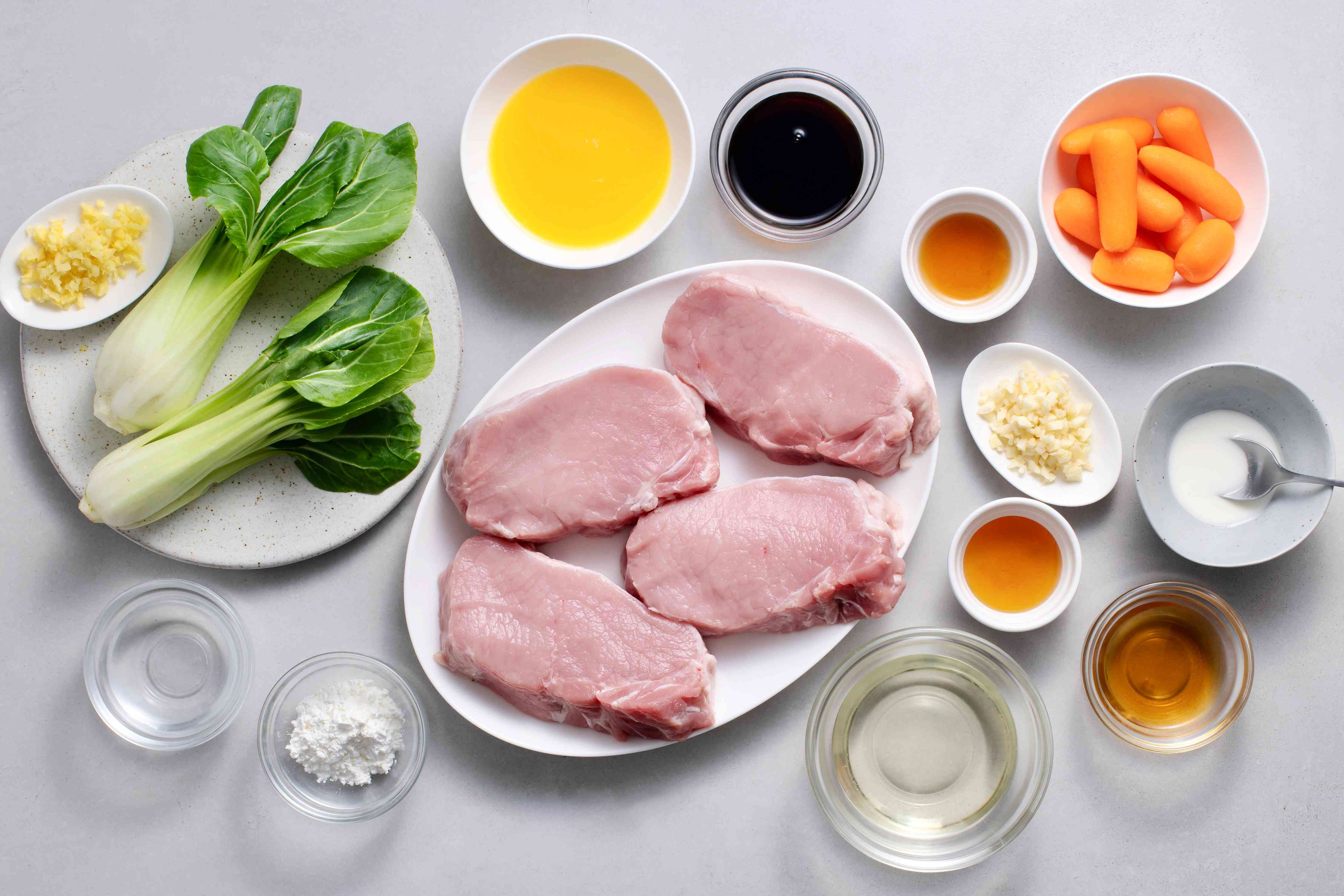 Chinese Orange Pork Chop Stir-fry ingredients