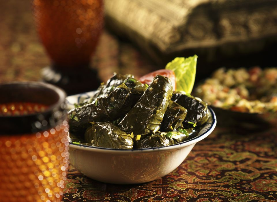 Stuffed Grape-Vine Leaves served as appetizer