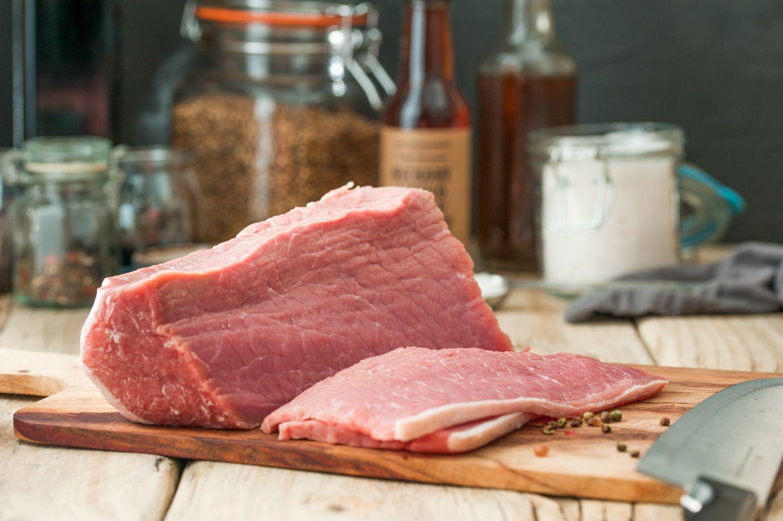 Slice the beef cross-grain