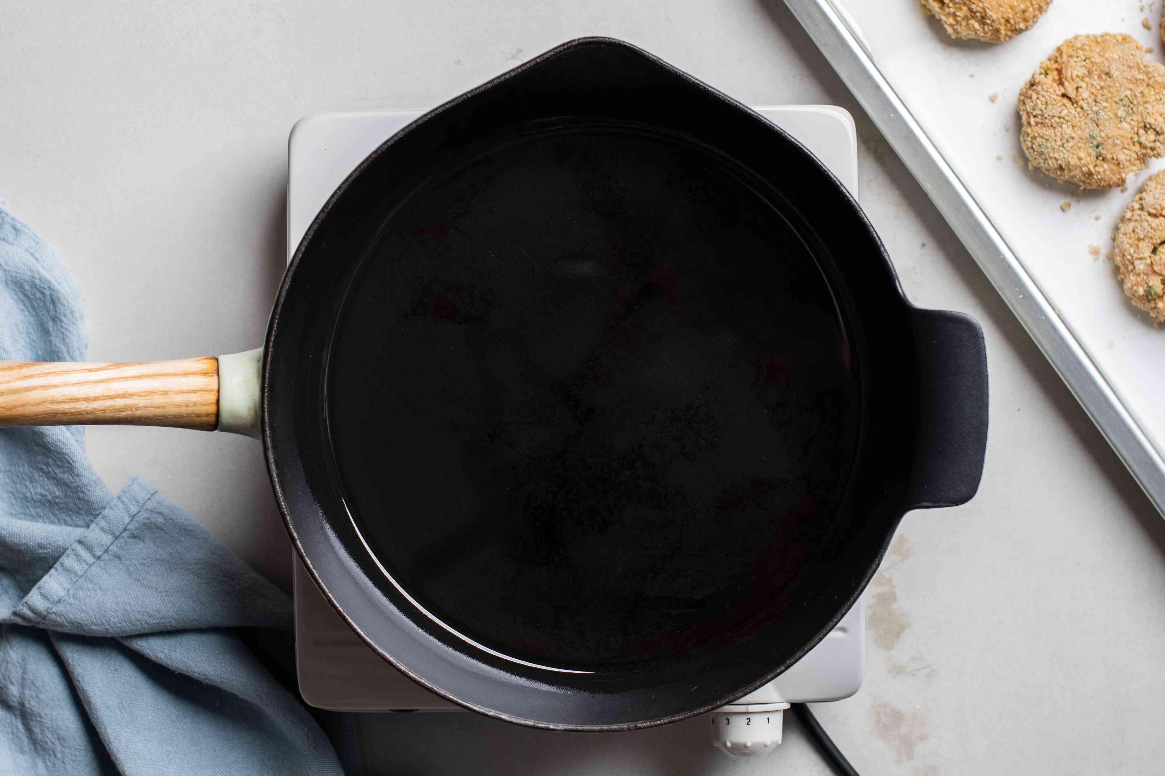 Oil in a pan
