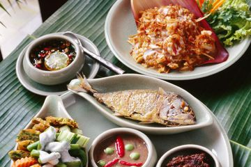 Typical meal in Bangkok, Thailand