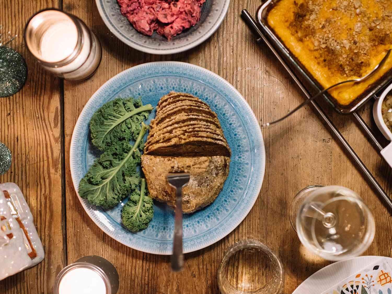 Vegan christmas steak ham Seitan
