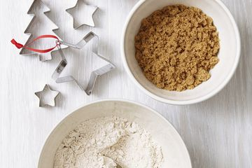 A set of holiday baking supplies