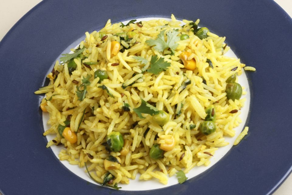 Matar Pulao – a preparation of rice and peas
