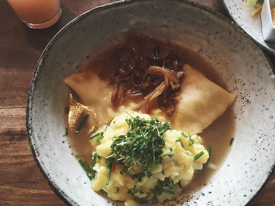 German Meat-Filled Dumpling (Maultaschen)