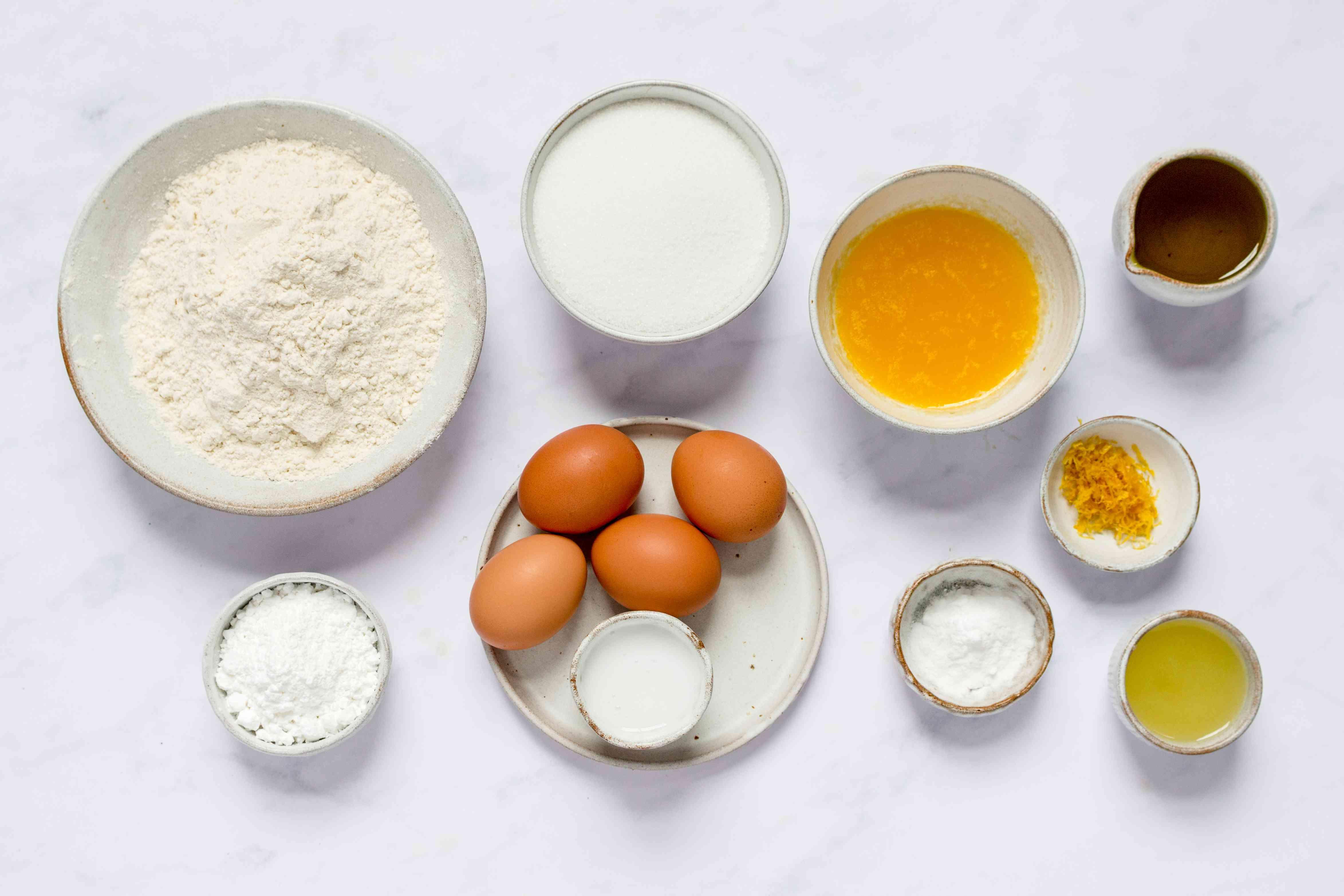 Dairy-Free Lemon Cake ingredients