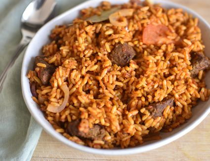 Nigerian Jolla Rice with Beef Recipe