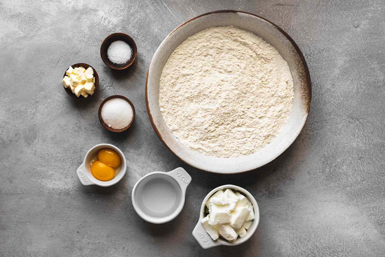 Ingredients for empanada dough