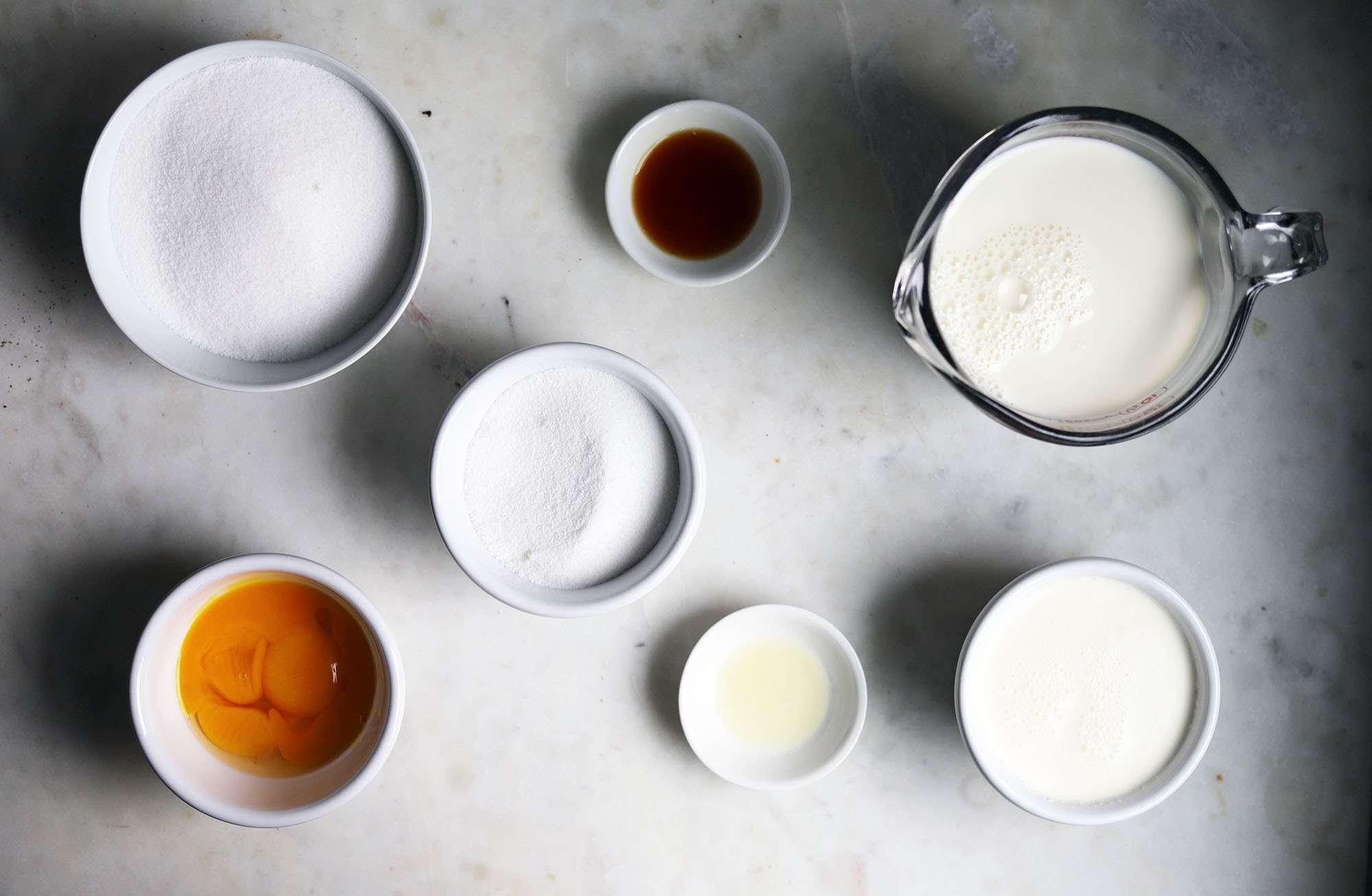 creme caramel ingredients