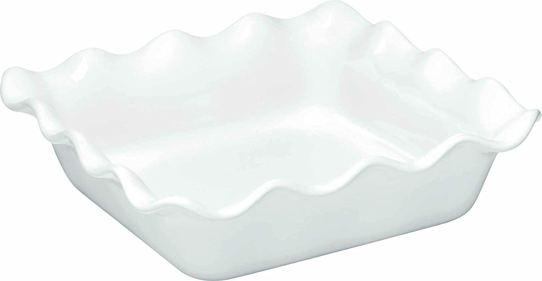 Emile Henry French Ceramic Ruffled Square Baker