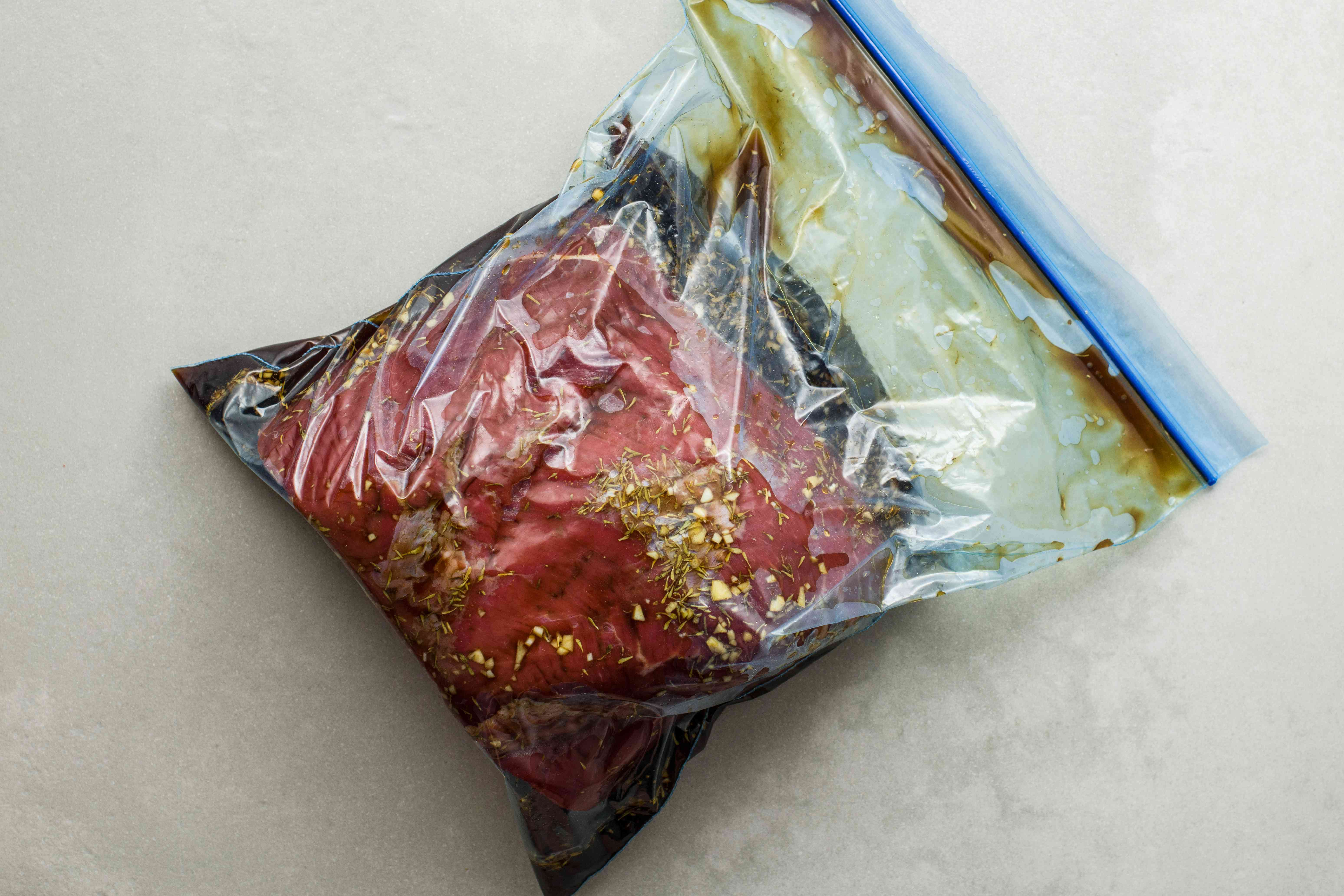 Roast in bag with marinade