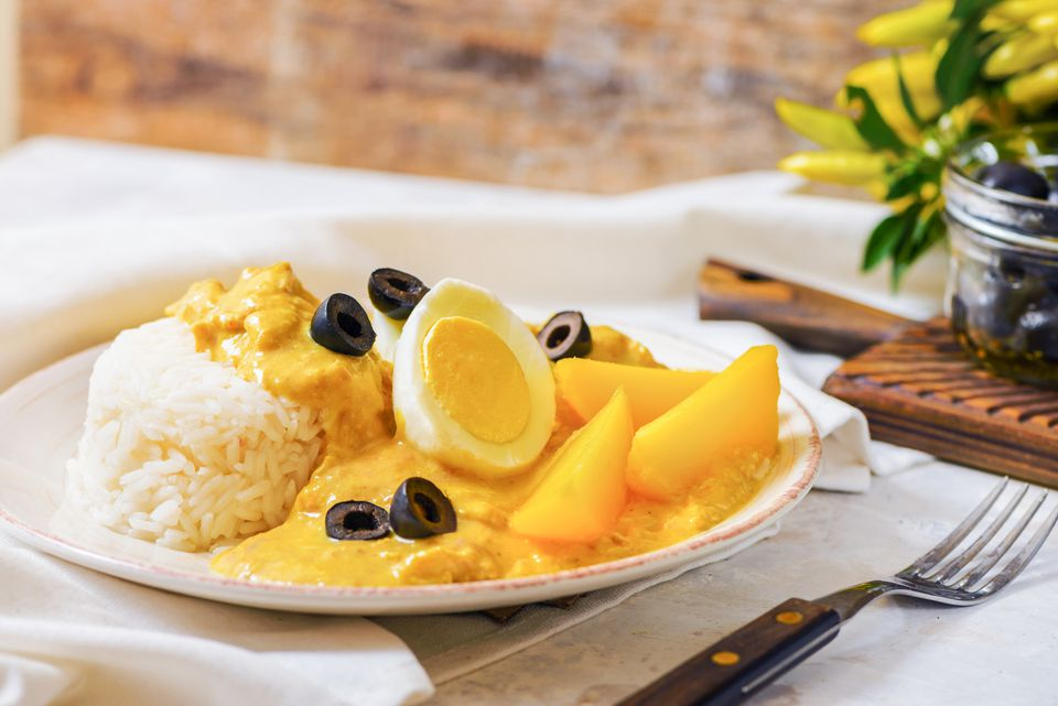 Spicy Creamed Chicken Aji de Gallina