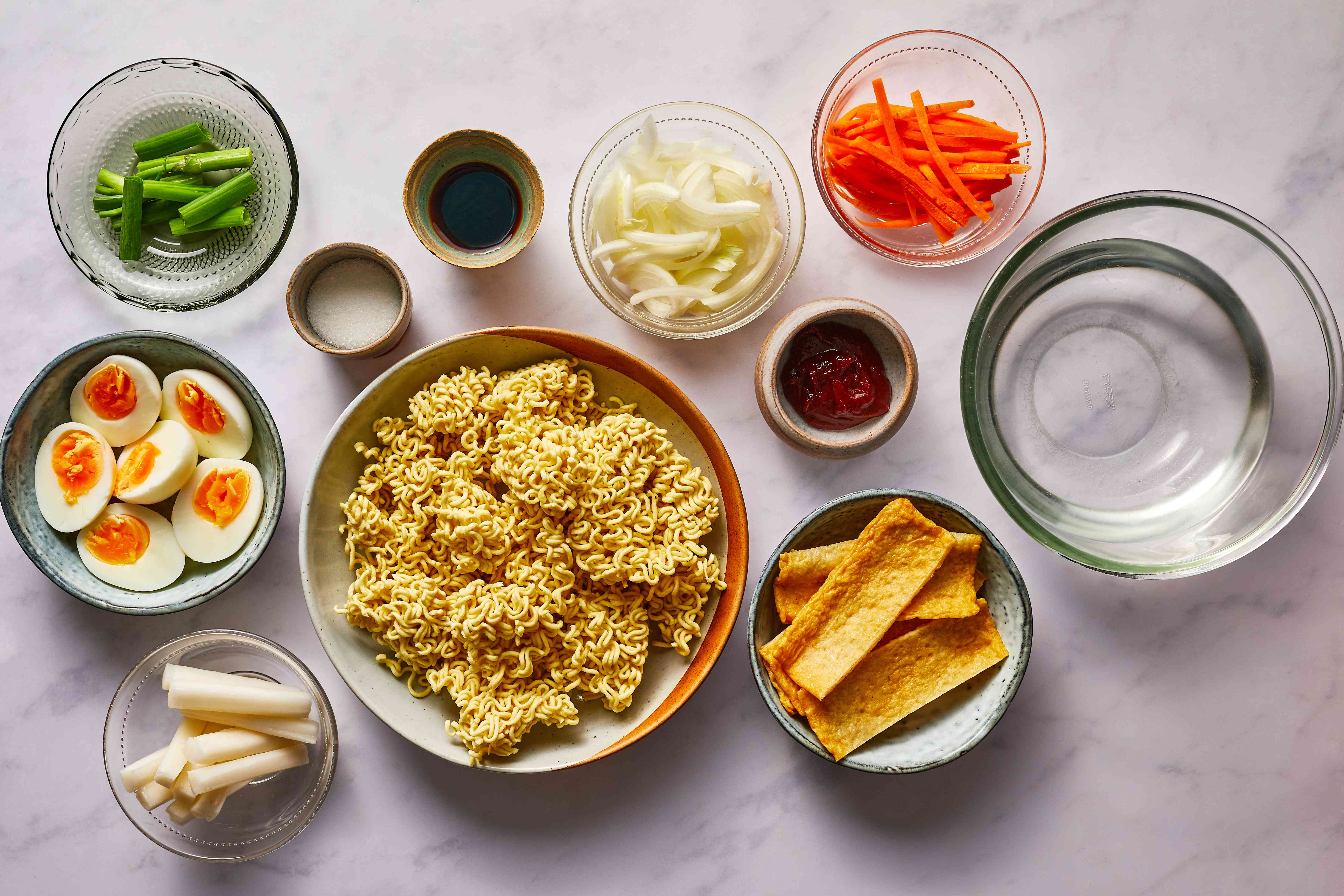 Rabokki (Ramen + Dukboki), the Ultimate Korean Street Food ingredients
