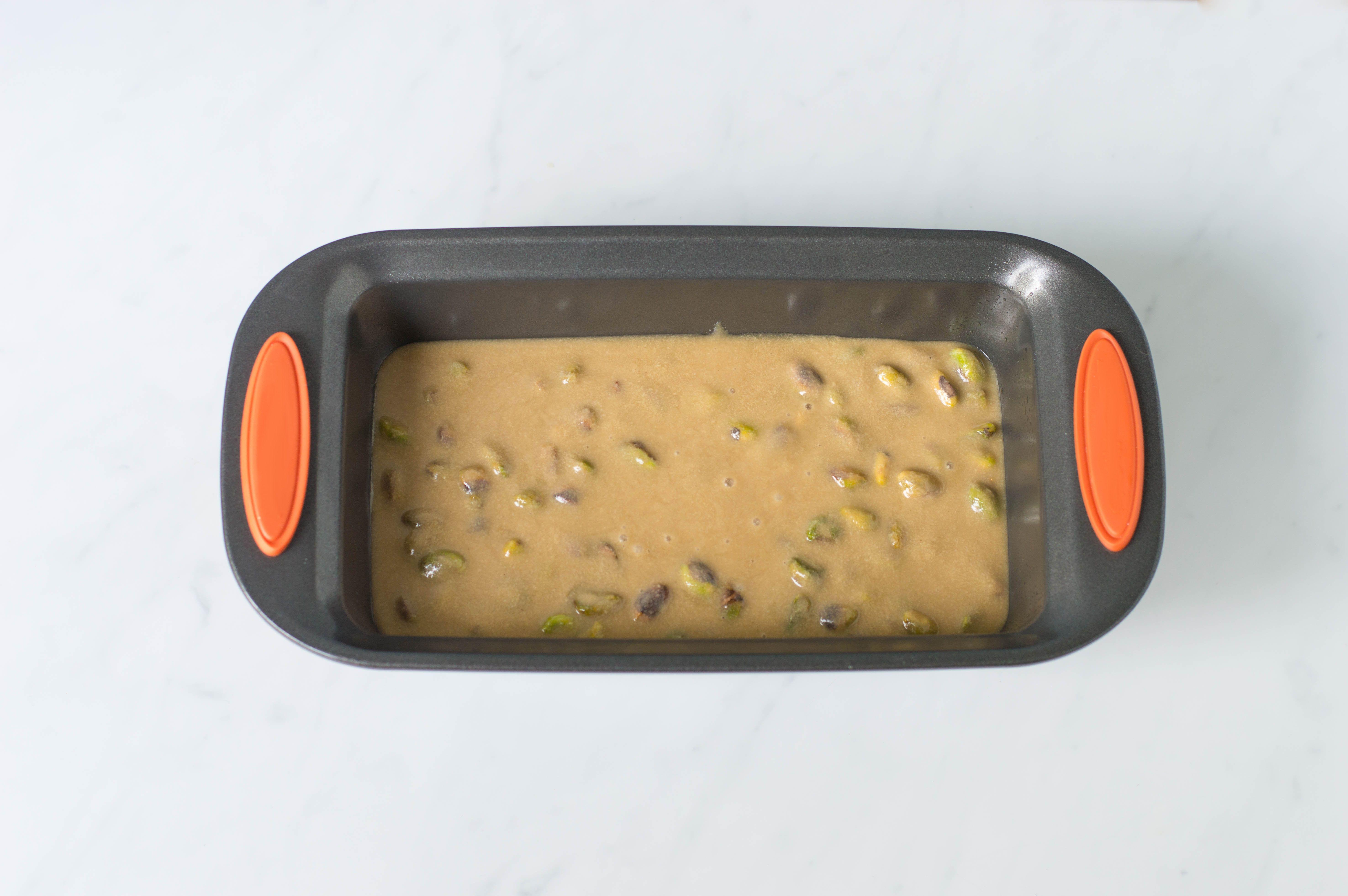 Sesame tahini halvah in the loaf pan