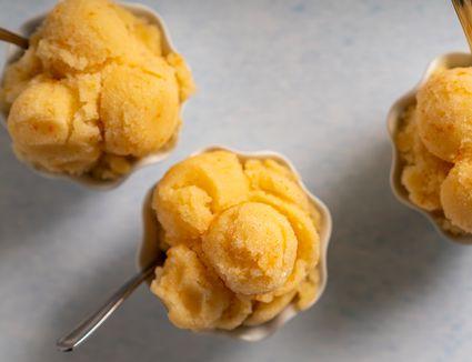 Sugar-Free Low-Carb Orange Sorbet
