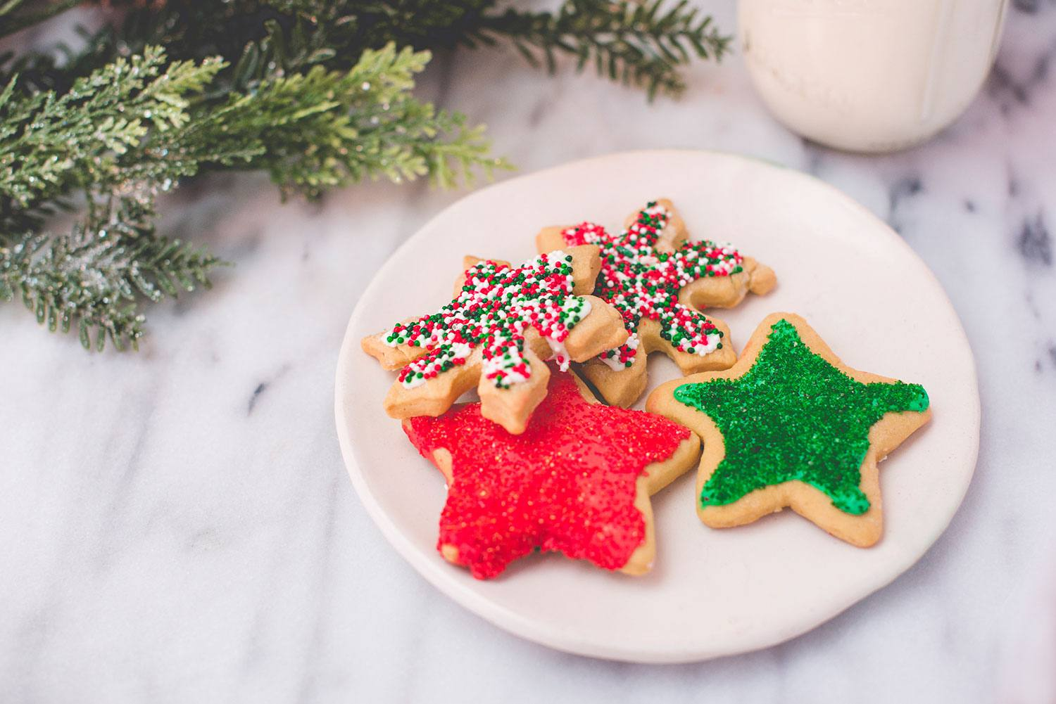 Festive Low Fat Christmas Cookies