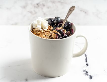 Blueberry Crumble in a Mug