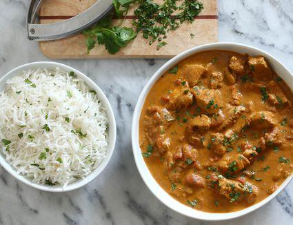 Instant Pot tikka masala and extra long-grain basmati rice.