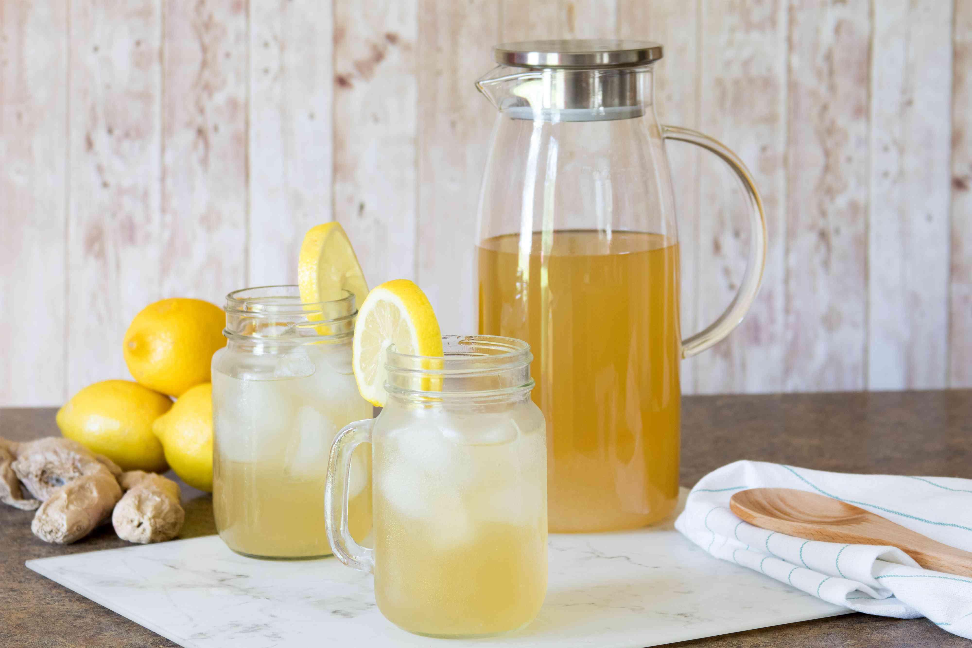 Fresh-Made Ginger Lemonade