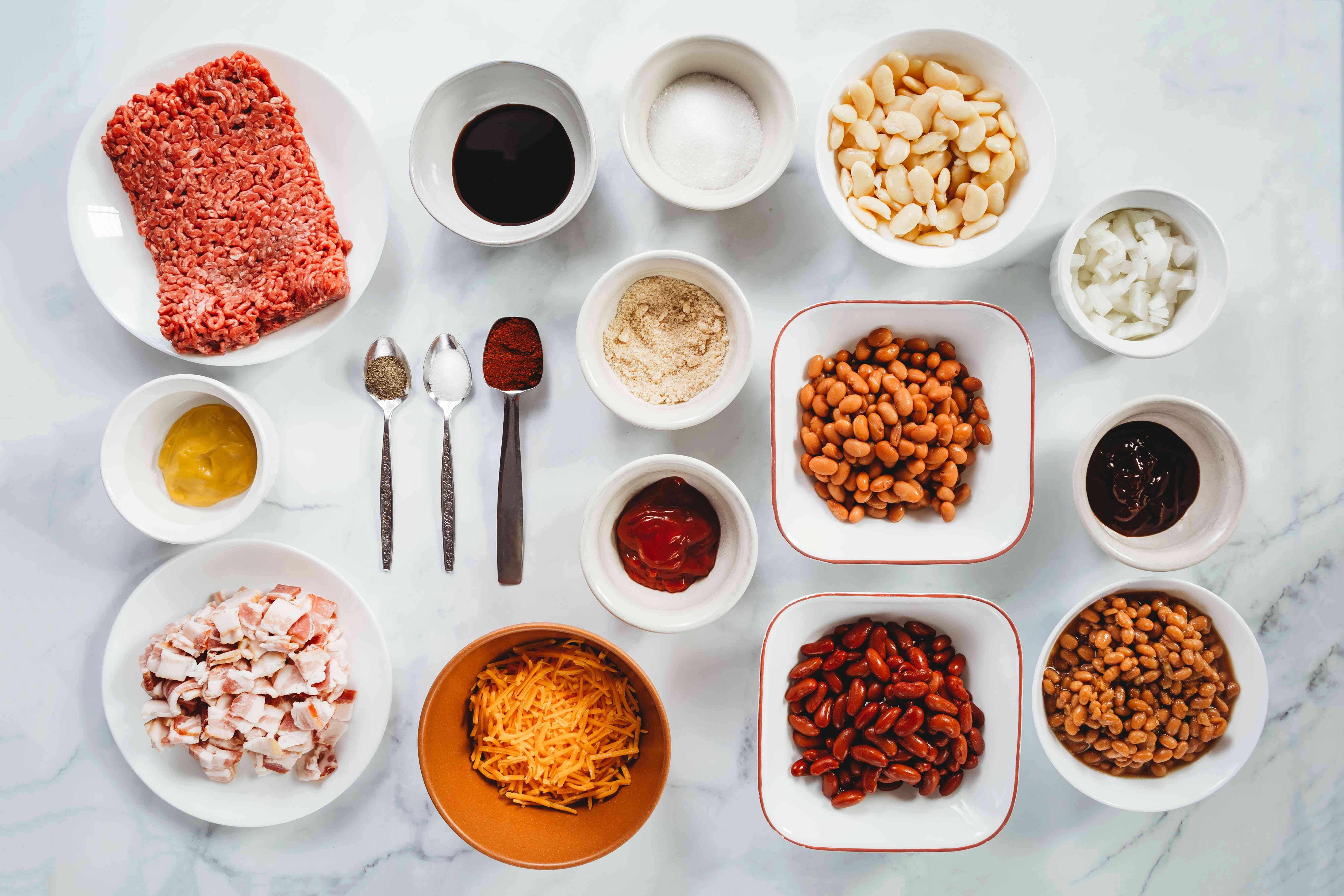 Cowboy Beans With Ground Beef ingredients