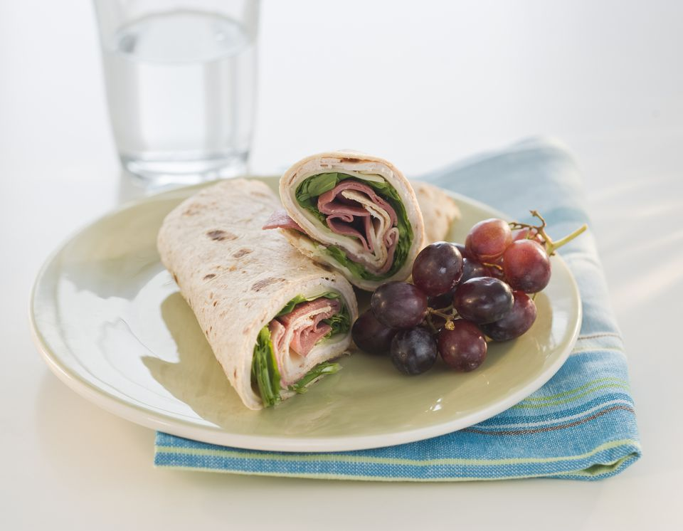 Low Calorie Ham and Turkey Wrap