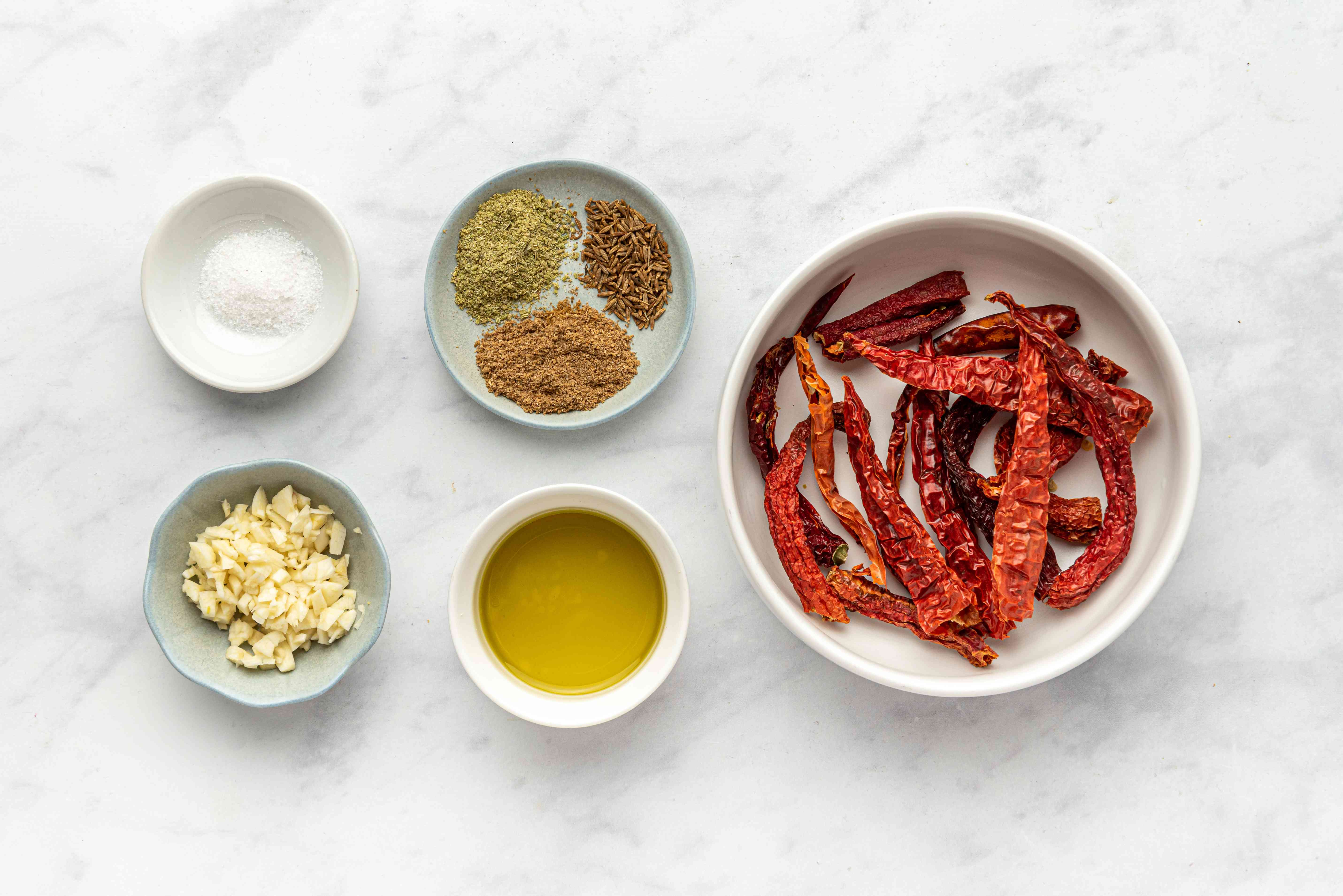 Ingredients for harissa