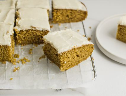Pumpkin cake with browned butter icing