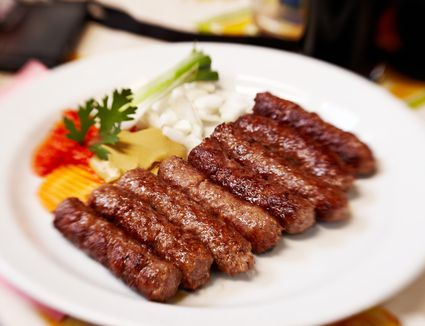 Traditional Slovenia dish of sausages