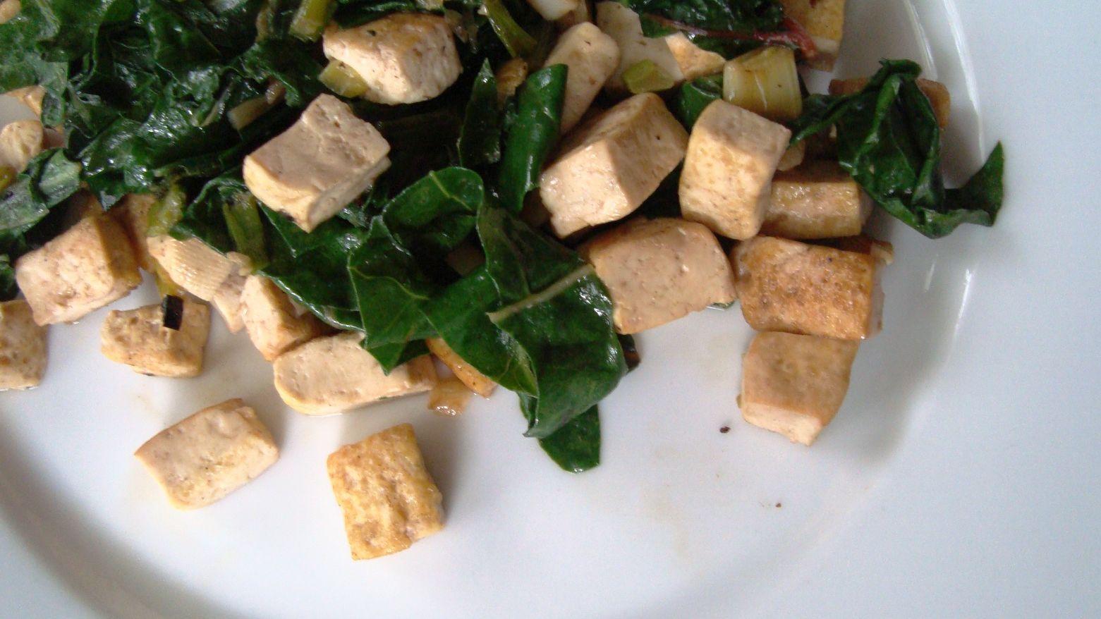 Swiss Chard and Tofu Stir-Fry Recipe