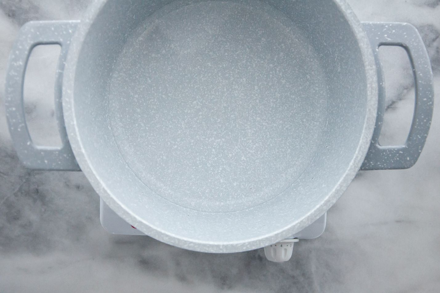 saucepan with water