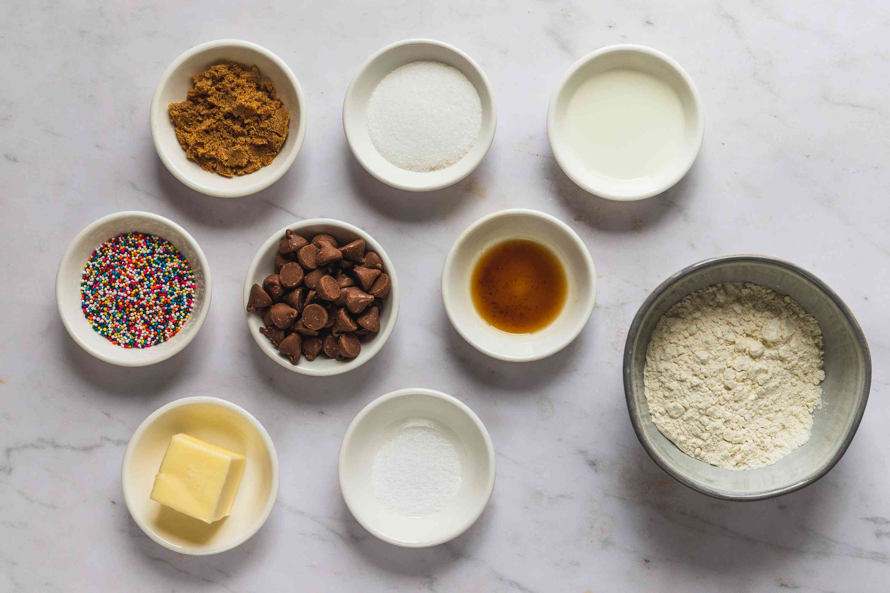 Edible Cookie Dough for One (Eggless) ingredients