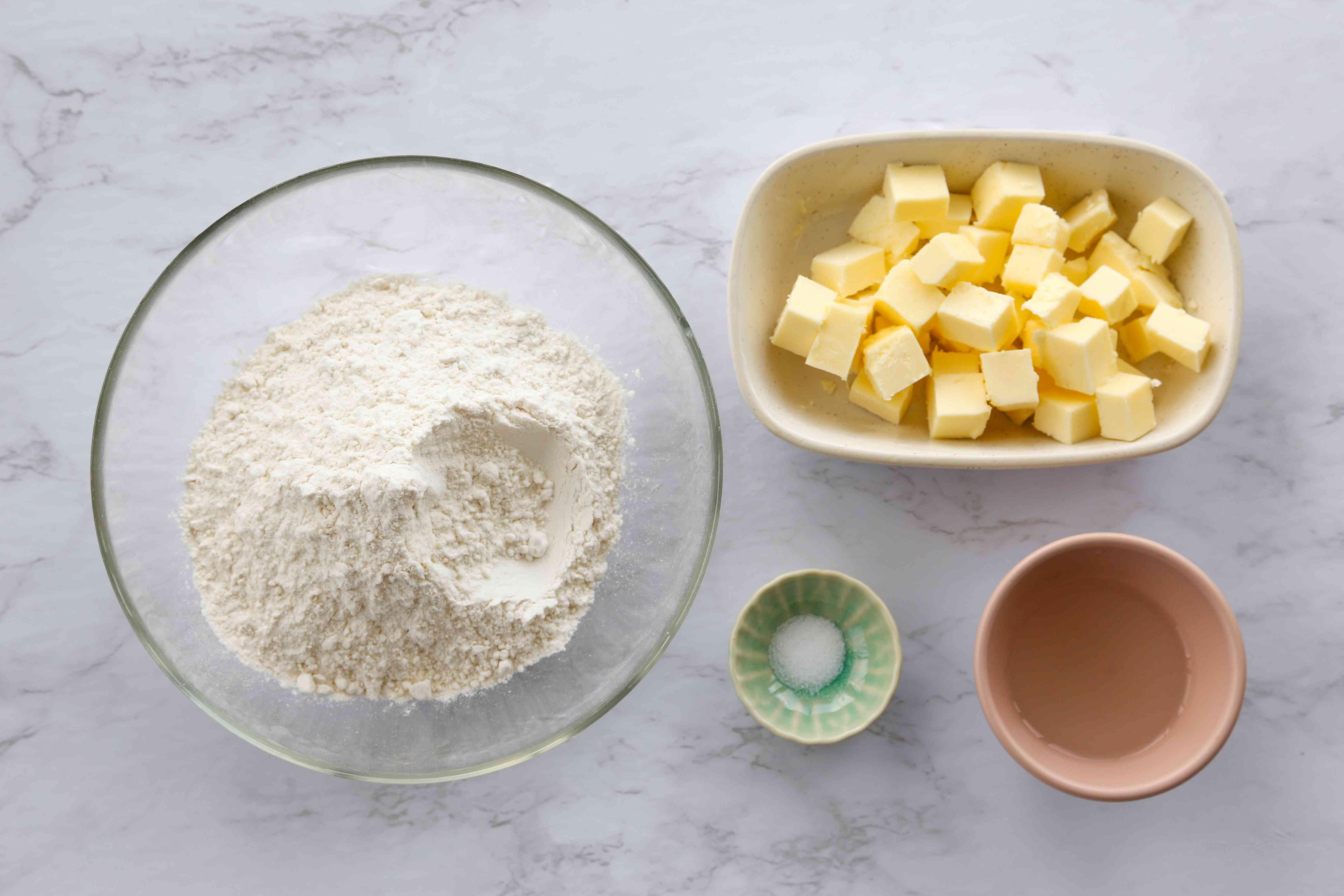 Pie pastry ingredients