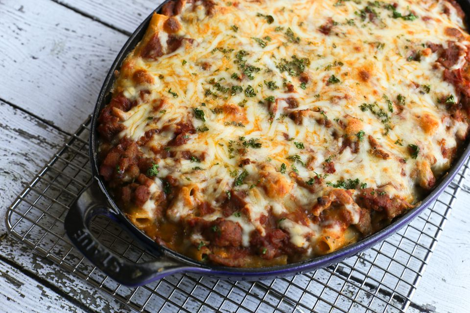 Ziti Bake Recipe With Ground Beef and Italian Sausage