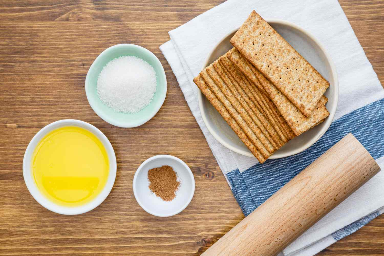 Ingredients for gluten-free graham cracker crust