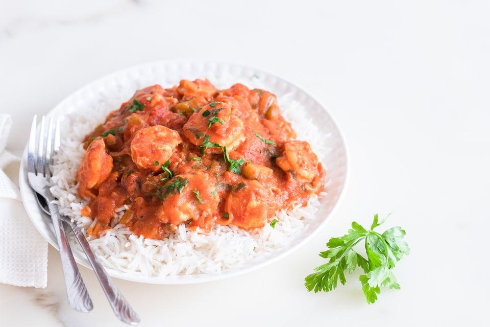 Classic shrimp Creole with Rice