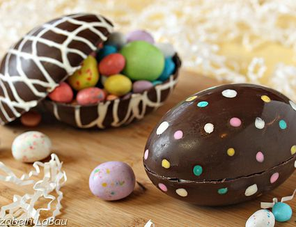 How to make sugar easter eggs hollow chocolate easter eggs are perfect for easter gifts negle Gallery