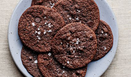 Gluten-free chocolate cookies on a plate