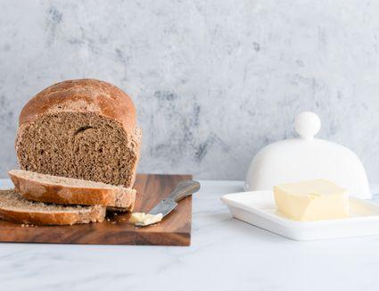 Homemade pumpernickel bread