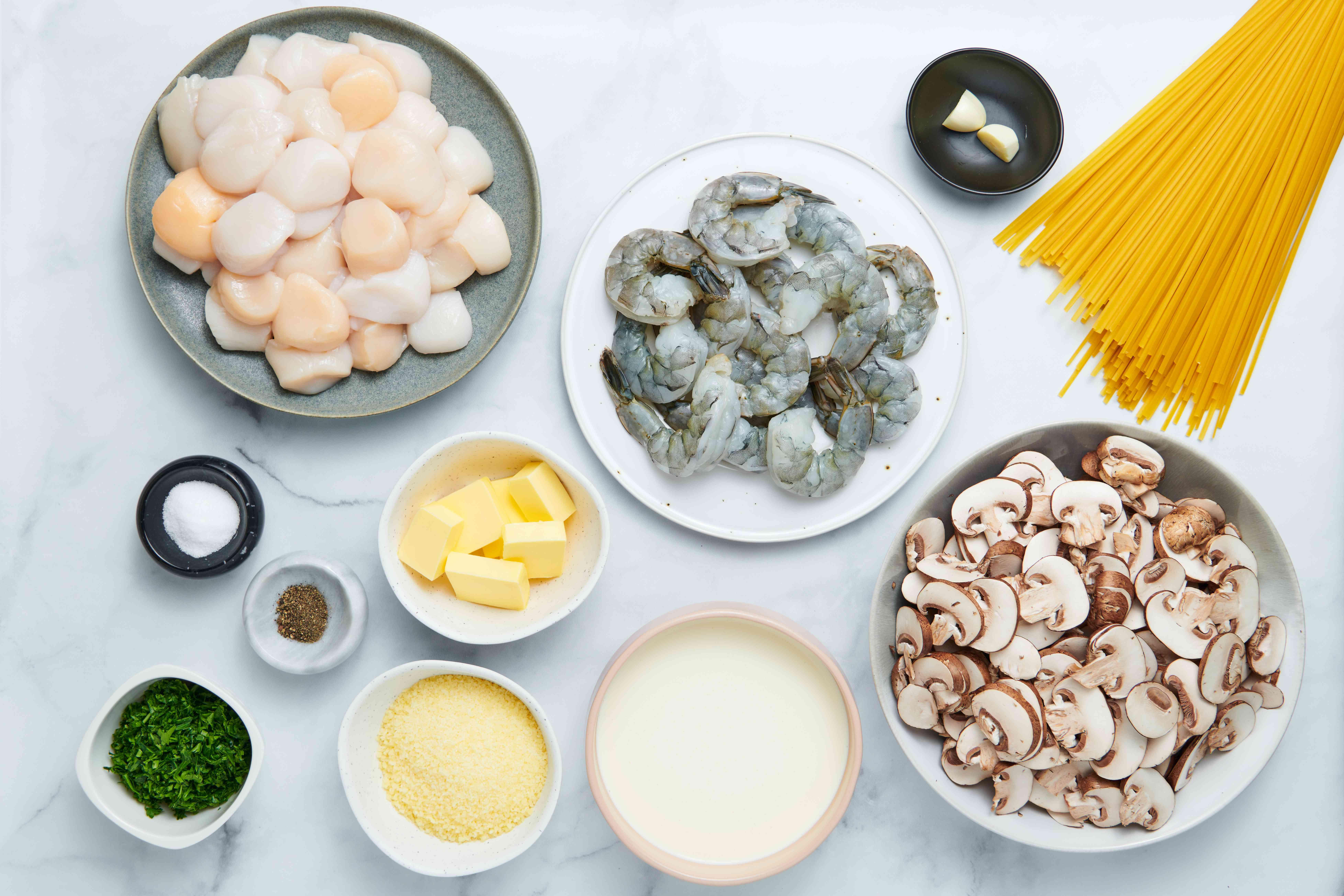 Seafood Pasta With Mushroom Cream Sauce ingredients