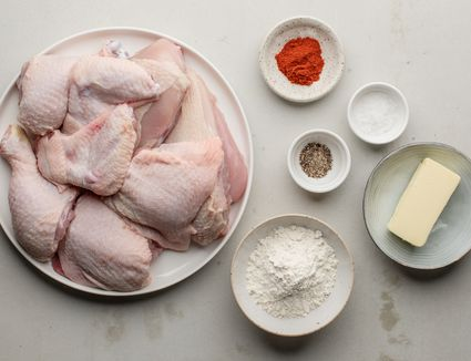 Ingredients for Southern fried chicken
