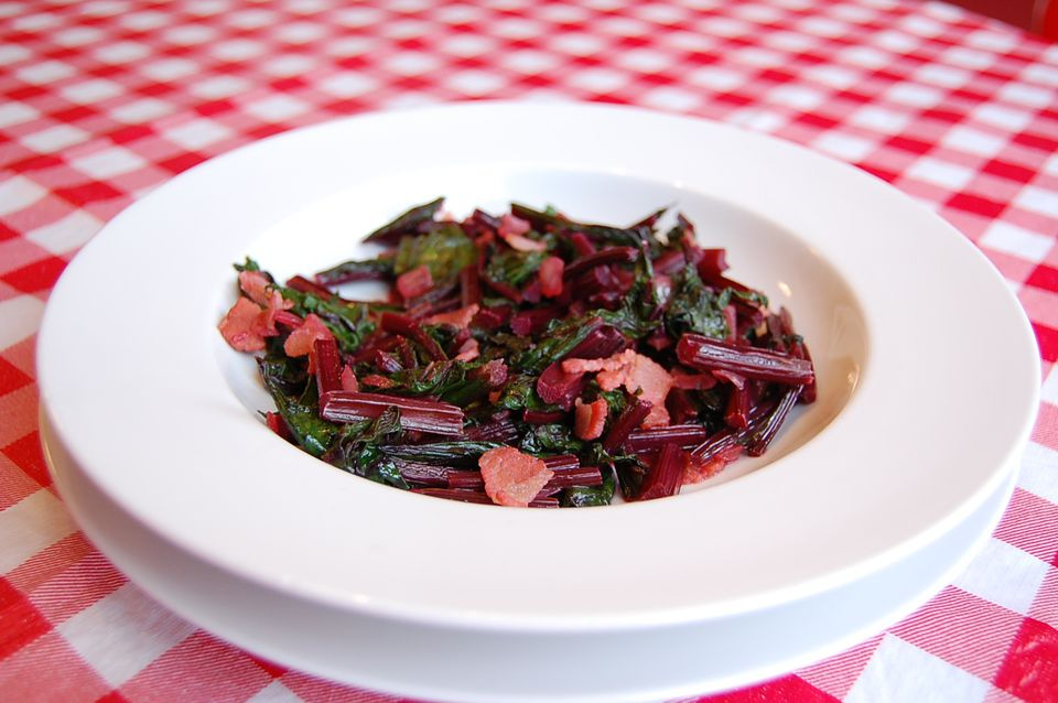 Sautéed beet greens