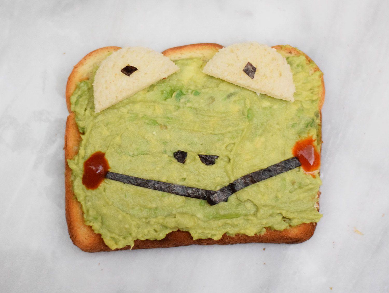 frog animal toast
