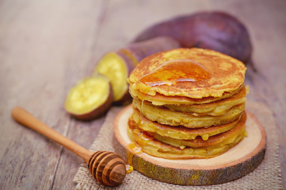Sweet potato pancakes.