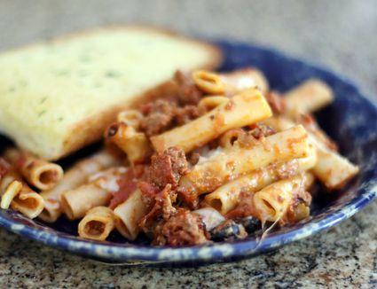 Slow Cooker Pizza Pasta Casserole
